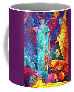 Tall Vase And Fruit Coffee Mug