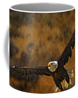 Coffee Mug featuring the photograph Talons At The Ready-signed by J L Woody Wooden