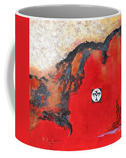 Coffee Mug featuring the painting Talons Of Prey by M Diane Bonaparte