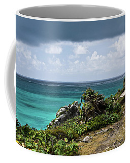 Talum Ruins Mexico Ocean View Coffee Mug