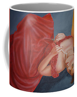 Coffee Mug featuring the painting Tammy by Bryan Bustard