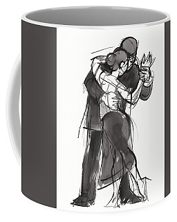 Coffee Mug featuring the painting Tango 1 by Judith Kunzle