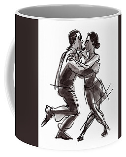 Coffee Mug featuring the painting Tango #22 by Judith Kunzle