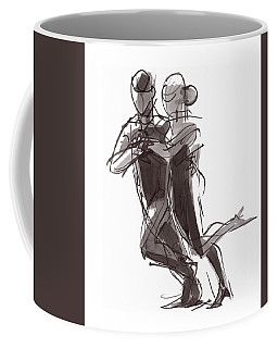 Coffee Mug featuring the painting Tango #24 by Judith Kunzle