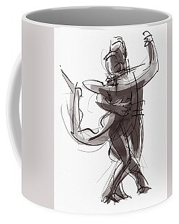 Coffee Mug featuring the painting Tango #25 by Judith Kunzle