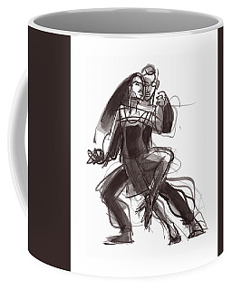 Coffee Mug featuring the painting Tango #35 by Judith Kunzle