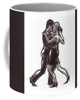 Coffee Mug featuring the painting Tango #51 by Judith Kunzle