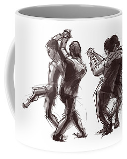Coffee Mug featuring the painting Tango #58 And #59 by Judith Kunzle