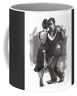 Coffee Mug featuring the painting Tango 6 by Judith Kunzle