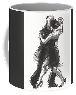 Coffee Mug featuring the painting Tango 8 by Judith Kunzle