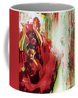 Coffee Mug featuring the painting Tango Dance 45g by Gull G