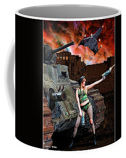 Tank Girl In Action Coffee Mug