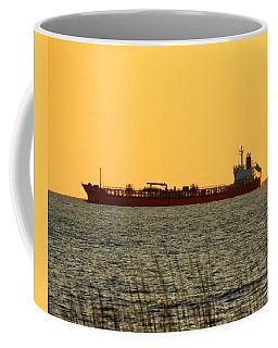 Tanker At Sunrise Coffee Mug