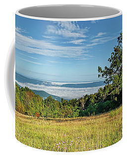 Tanners Ridge Overlook Morning Fog Ocean Coffee Mug