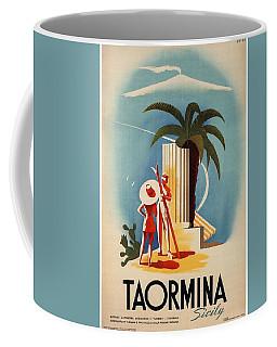 Taormina, Sicily, Italy - Couples - Retro Travel Poster - Vintage Poster Coffee Mug