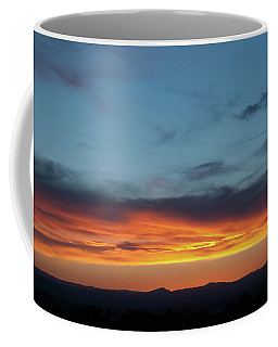 Coffee Mug featuring the photograph Taos Mesa Sunset by Jason Coward