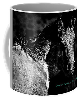 Taos Pony In B-w Coffee Mug