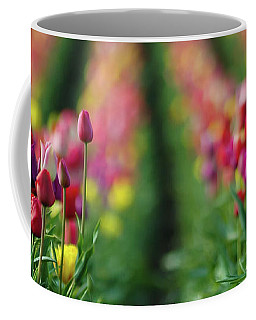 Coffee Mug featuring the photograph Tapestry Of Tulips by Nick Boren