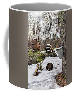 Tapping A Maple Sugar Tree Coffee Mug by Betty Pauwels