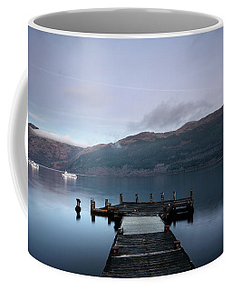Coffee Mug featuring the photograph Tarbet Twilight by Grant Glendinning