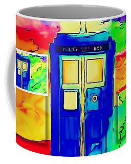 Tardis Three Coffee Mug by Justin Moore