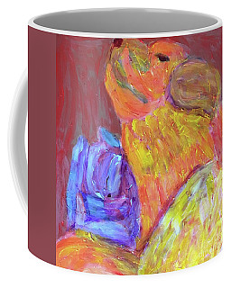 Coffee Mug featuring the painting Tarella Napping With Merline by Donald J Ryker III