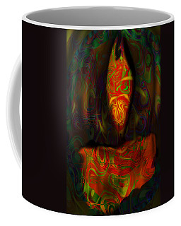 Coffee Mug featuring the painting Tarot Candle by Kevin Caudill