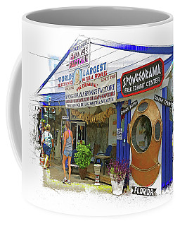 Tarpon Springs Fl Sponge Market Coffee Mug by Rebecca Korpita