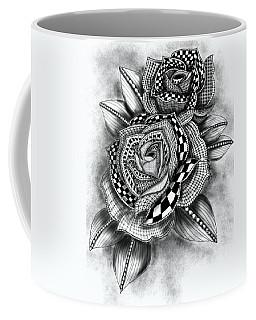 Tattoo Rose Greyscale Coffee Mug