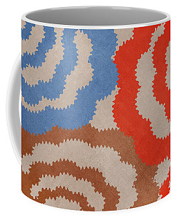 Coffee Mug featuring the mixed media Taupe Ring Pattern by Christina Rollo