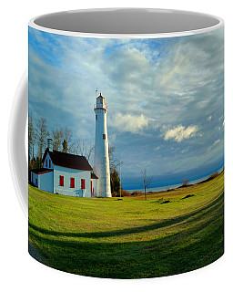 Coffee Mug featuring the photograph Tawas Point Lighthouse by Michael Rucker
