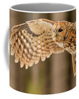 Tawny Owl Flying Coffee Mug