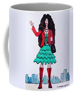 Fashionist Hailing A Taxi Coffee Mug by Don Pedro De Gracia