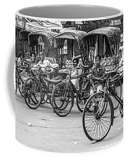 Coffee Mug featuring the photograph Taxi Rank by Chris Cousins
