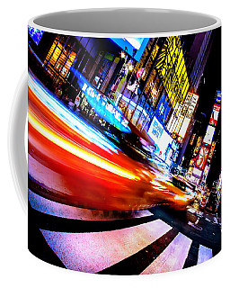 Taxis In Times Square Coffee Mug