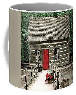 Coffee Mug featuring the digital art Tc Hesler Log House by Ellen O'Reilly