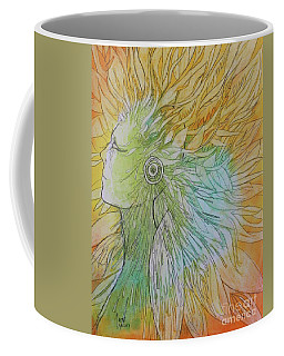 Coffee Mug featuring the drawing Te-fiti by Marat Essex