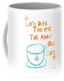 Tea And Cats Square Coffee Mug