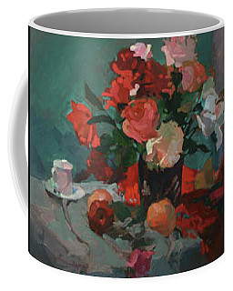 Tea And Peonies Coffee Mug