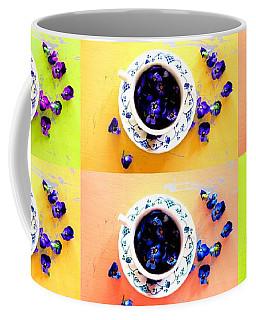 Tea Cups And Violets Coffee Mug