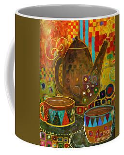 Tea Party With Klimt Coffee Mug by Robin Maria Pedrero