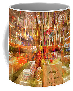 Coffee Mug featuring the photograph Tea Store Abstract by Stuart Litoff