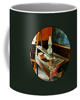 Teacher - Teacher's Desk With Hurricane Lamp Coffee Mug