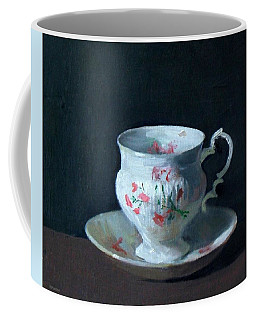 Teacup And Saucer On Dark Background Coffee Mug
