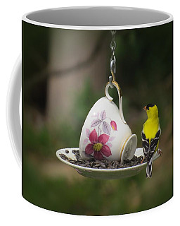 Teacup Finch Coffee Mug by MTBobbins Photography