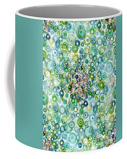 Teal And Olive Concavity Coffee Mug