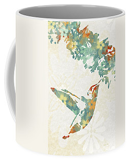 Floral Hummingbird Art Coffee Mug