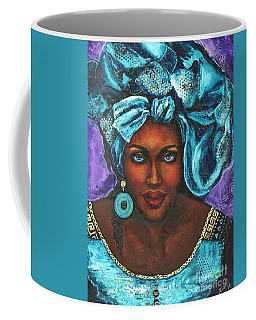 Teal Headwrap Coffee Mug
