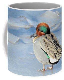 Teal On The Rocks Coffee Mug