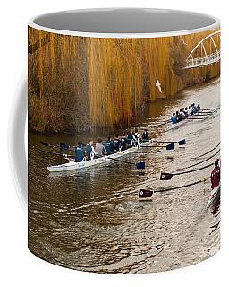 Teams Of Rowers On River Cam Coffee Mug